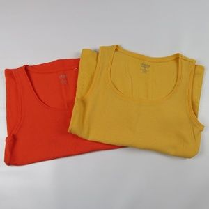Lot of 2 CHICO'S True Colors Tees Ribbed Tank Tops